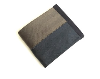 Vegan men's billfold wallet - Brown and black