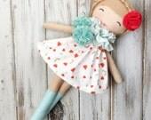 Sienna ~ SpunCandy Classic Doll, Heirloom Quality Doll, Modern Rag Doll, Nursery Decor, Kids Decor, Fabric Doll, Cloth Doll, Handmade Doll