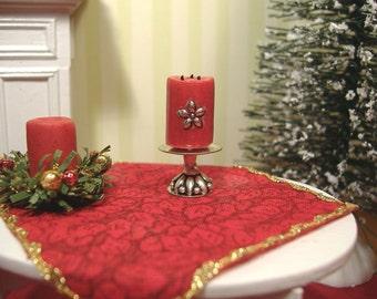 Barbie Or 1:12 Scale Miniature dollhouse Christmas Candle