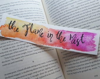 The Flame in the Mist Watercolor Bookmark, Gift For Booklover, Young Adult Bookmark