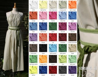 Shea Handmaiden / Grecian Dress 1.0 - <MADE TO ORDER> - one size - (Larp, Cosplay, Ren Faire, Festival) -  Cotton Batiste, various colours