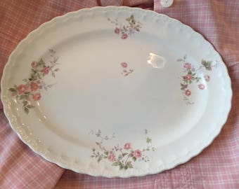 Antique vintage Pope Gosser rosebud platter so pretty def wall worthy! It matches the duvets i listed perfectly no signs of wear