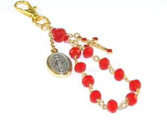 Car Rosary - Miraculous Medal Travel Rosary Clip - Great Farewell Gift