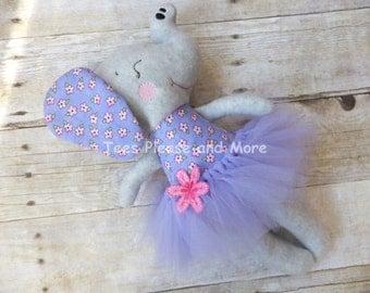 Elephant Ballerina Stuffed Doll