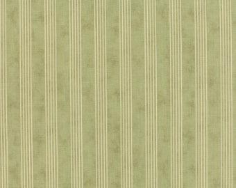 Country Orchard green stripe by Blackbird Designs for moda fabrics