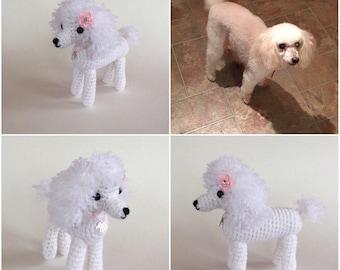 Custom Dog -  Amigurumi - Crochet Pet Memorial - collectible - dog replica