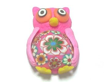 New Fimo Polymer Clay owl bird Figurine Refrigerator Magnet