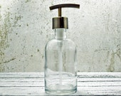 Hand Soap Dispensers | Clear Glass Soap Dispenser Bottle | Country Bathroom Decor | Bathroom Soap Dispenser | Farmhouse Kitchen Decor