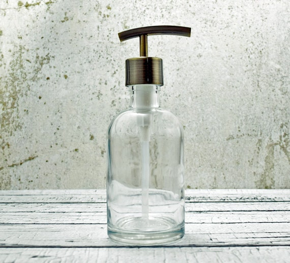 Kitchen Hand Soap Dispenser ~ Hand soap dispensers clear glass dispenser bottle