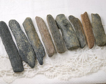 "9 ancient fossil bone sticks (2"" - 2.75"") ancient (no.2)"