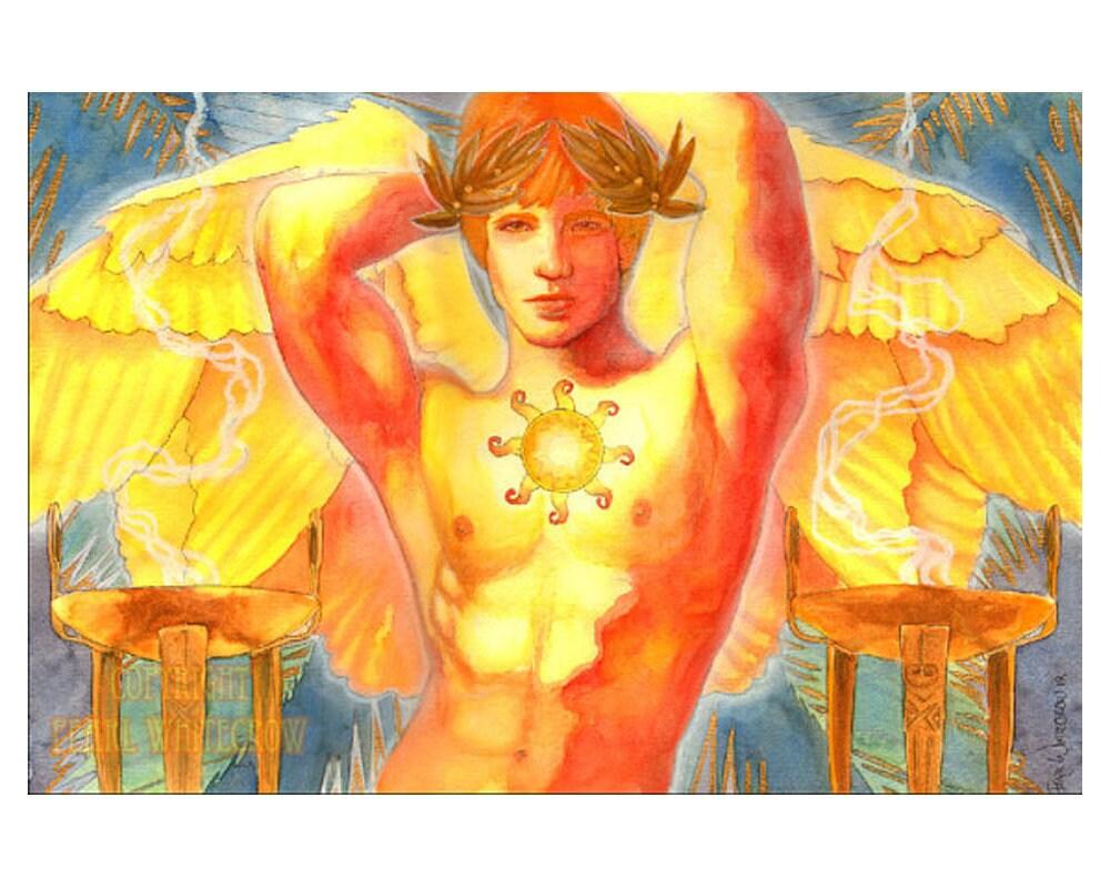 Sun God Apollo Original Art