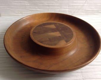 Teak wood Cheese Board, serving Tray. Vintage Jens Quistgaard Denmark.  Wood Cutting board.  Danish Modern.  Mid century.  Eames era.