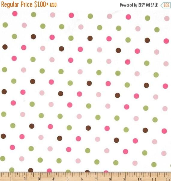 Cozy Cotton Flannel Dots Garden for Robert Kaufman Multi Color Polka Dot 100% Cotton FLANNEL Quilt Apparel Craft