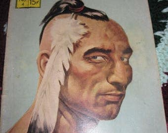 Vintage Classic Illustrated Comic 60's Era Last of the Mochicans No.4 of series story by James Fenimore Cooper