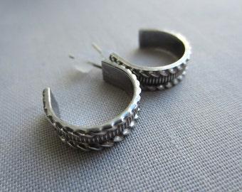 Oxidized Silver studs/ Stud Earrings/ Oxidized Silver Earrings/ Metalsmith earrings/ Silver Studs/ Artisan Earrings
