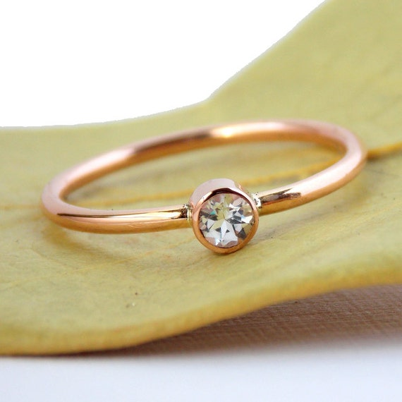 simple gold filled birthstone ring 14k gold filled