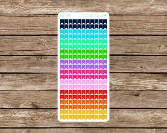Mini Flags Planner Stickers  •• EC Planner •• Happy Planner •• Plum Planner ••