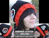 Twenty One Pilots Toque, slouch crochet hat handmade 21 pilots