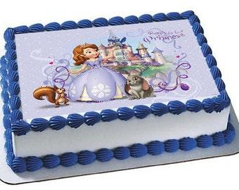Sophia el primer Cupcake hoja comestible imagen cumpleaños boda bebé ducha partido primeros de la torta personalizada favores de la película muchos tamaños