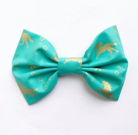 NEW SPRING XL Bow Tie Headband or Clip Mint Unicorn - XLarge Bow Tie Headband - girl, baby, toddler, woman, bow, jewel tones