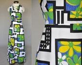 SALE!!! vintage 70s Liberty House Hawaiian gown | sleeveless, maxi, slimfit xs/s