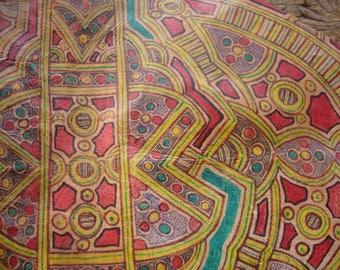 Niger Tuareg large camel leather piece with design