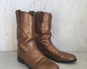 Vintage Pearlized Copper Justin Roper Boots Size 6 1/2 B
