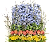 Contemporary Dried Floral Arrangement, Stacked Arrangement, Rustic , Country Arrangement, Dried Flowers