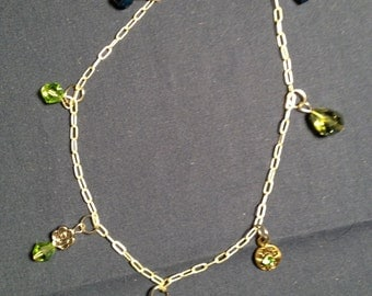 Make it Sparkle: Handmade Anklet Featuring Charms