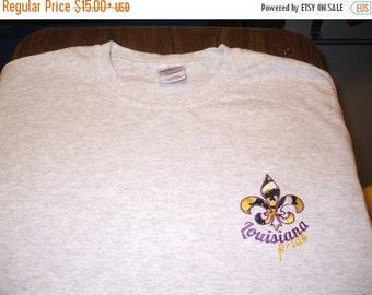 ON SALE Embroidered Tee: Louisianna Pride