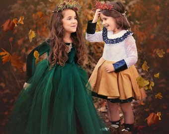 Long Sleeve Tutu Dress, Emerald Green tutu dress