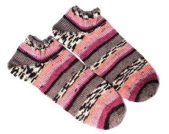 hand knit women ankle socks sports socks athletic socks trainer socks sneaker socks travel socks size 5-7 Uk 7-9 US 38-39EU