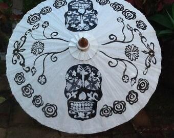 Sugar skull parasol
