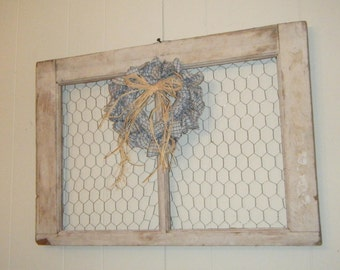 Rustic Farmhouse Window Wall Art