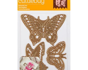 Cricut Cuttlebug Anna Griffin Cut & Emboss Die Set - BUTTERFLY TRIO
