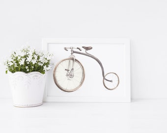 Penny Farthing Art Print, art print, penny farthing, bike, ideal gift