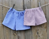 Boys Gingham shorts or pants, LINED, many colors, thanksgiving, beach...3m,6m,9m,12m,18m,2t,3t,4t,5,6,7,8,10,12