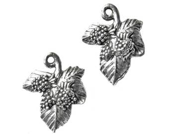 Grape Leaves Cufflinks - Gifts for Men - Anniversary Gift - Handmade - Gift Box Included