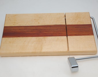 Handmade Maple and Cocobolo Cheese Slicer Cutting Board