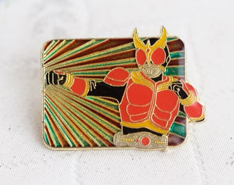 Superhero Badge - Kameen Rider Kuuga - Japanese insect Man Lapel Pin