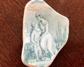 Scotland Beach Pottery, Perfect for Jewelry Makng, Flawless Picture Pattern for Pendants, Collecting, Crafts or Mosaics