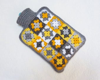 Crochet hot water bottle cover hot water bottle cozy
