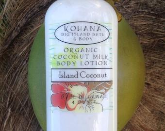 Island Coconut-Organic Coconut Milk Body Lotion-MADE IN HAWAII