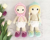 Amigurumi CROCHET PATTERN - Benjy and Bridget Dolls - PDF toy amigurumi crochet doll crochet amigurumi softie baby doll twin baby dolls kids
