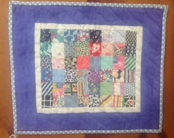Vintage Doll quilt or wall hanging made from 1930's fabric