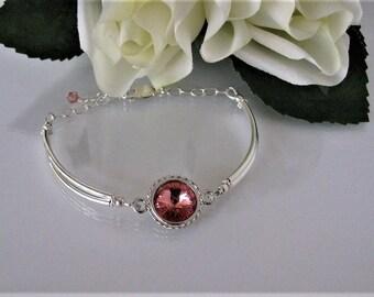 Mother of the Bride Bracelet-Mother of Groom Bracelet-Swarovski Wedding Jewelry-Swarovski Wedding Bracelet-Birthstone Bracelet