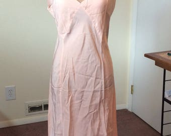 1940s/1950s Rayon Peach Slip- with tags! Sz Large