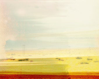 Minimalist Abstract New Mexico Landscape, Modern Wall Art, Minimal Decor, Modern Southwest Art, Hotel, Interior Design, Desert Landscape