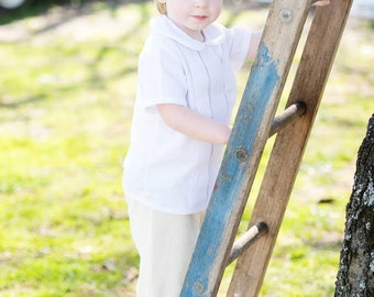 Boys Pleated Dress Shirt