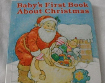 Vintage Hallmark Baby's First Book About Christmas Board Book